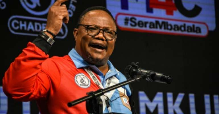 Contender: Tundu Lissu, who was shot 16 times in an attack in 2017.  By STR (AFP)