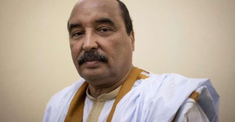 Corruption probe: Former president Mohamed Ould Abdel Aziz, pictured in 2018.  By THOMAS SAMSON (AFP)