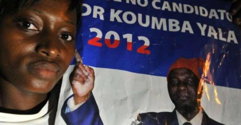 Kumba Yala ruled Guinea-Bissau from 2000 to 2003.  By Issouf Sanogo (AFP)