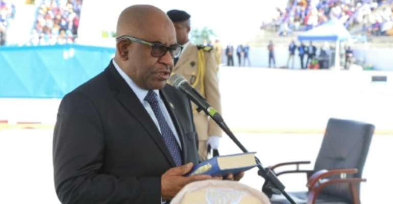 Critics accuse Comoros President Azali Assoumani of consolidating his power at the expense of political opponents.  By Ibrahim YOUSSOUF (AFP)