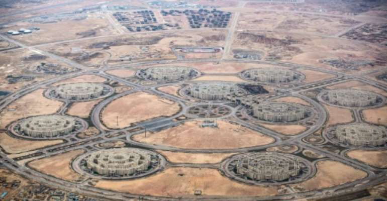 Critics questions how much of the GDP growth in Egypt is driven by ostentatious mega-projectssuch as a new administrative capital being built in the desert.  By Khaled DESOUKI (AFP/File)
