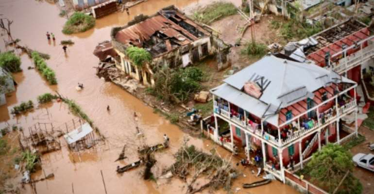 Cyclone Idai damaged key infrastructure and productive capacity in Mozambique, in addition to the loss of life.  By Adrien BARBIER (AFP)