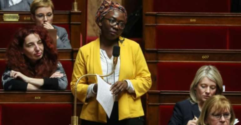 Daniele Obono sits in the French parliament for far-left party France Unbowed.  By Ludovic Marin (AFP/File)