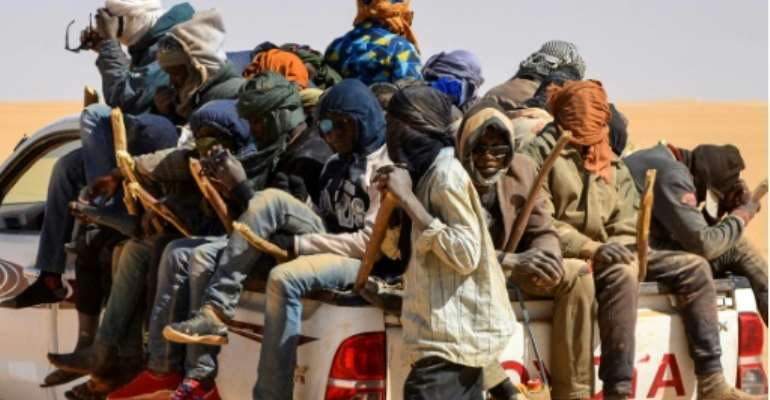 Death from thirst or heat is a major peril for migrants seeking to cross the Sahara to reach Libya.  By SOULEMAINE AG ANARA (AFP)