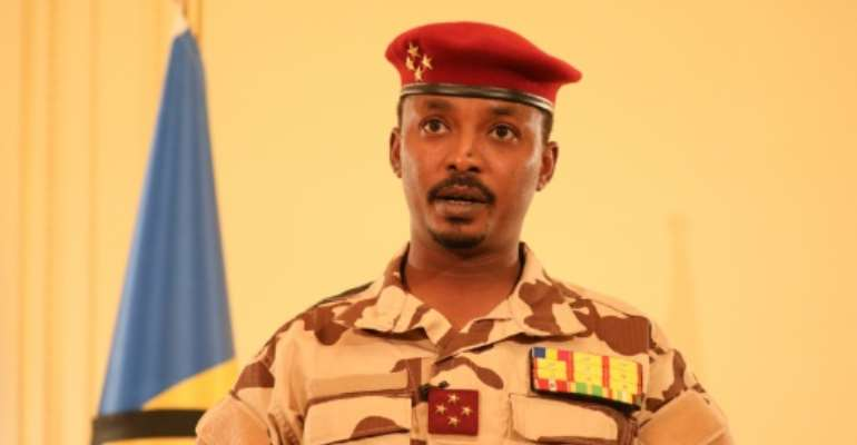 Deby's son Mahamat took the helm of a military junta after the strongman's shock death.  By Brahim ADJI (Tchad Presidential Palace/AFP/File)