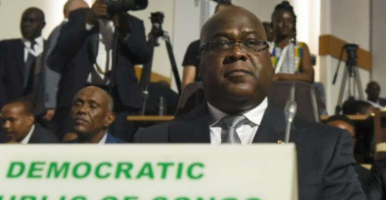 Democratic Republic of Congo President Felix Tshisekedi gained power in elections that marked the country's first peaceful transition of power since independence from Belgium in 1960.  By ISSOUF SANOGO (AFP/File)