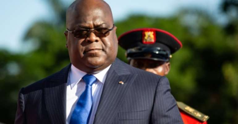 Democratic Republic of Congo President Felix Tshisekedi, seen here in November 2019, has encouraged the United States with his efforts against corruption.  By Sumy Sadurni (AFP/File)