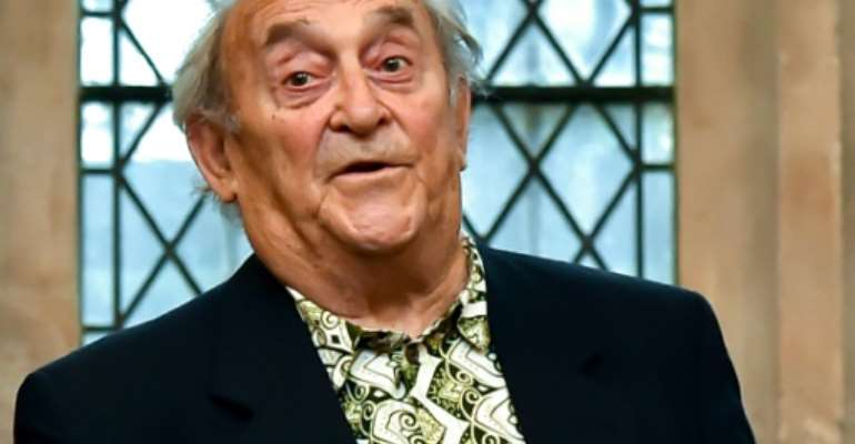 Denis Goldberg, pictured in 2016, joined the ANC's military wing in 1961.  By BEN STANSALL (AFP/File)