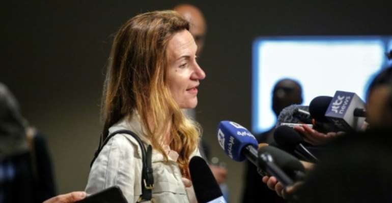 Deputy permanent representative of France to the United Nations Anne Gueguen, pictured in 2017, said the sanctions had induced changes in the behavior of some Malians.  By KENA BETANCUR (AFP/File)