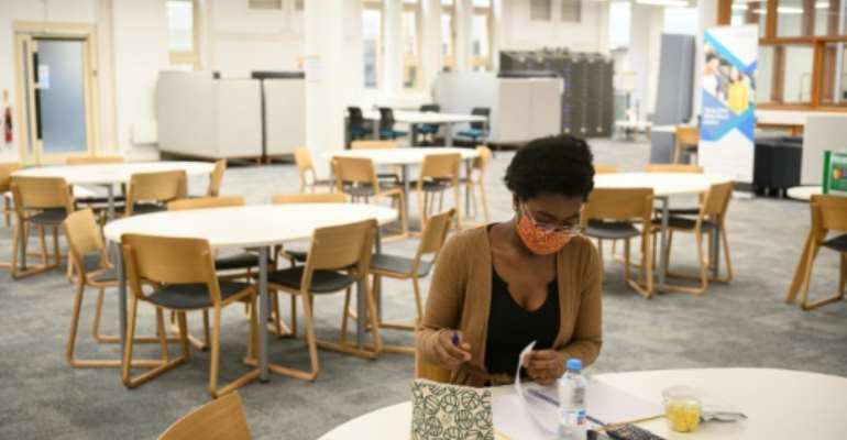 Despite virus restrictions, Agnes Genoveva Cheba Ade says being able to study at Coventry University is something to