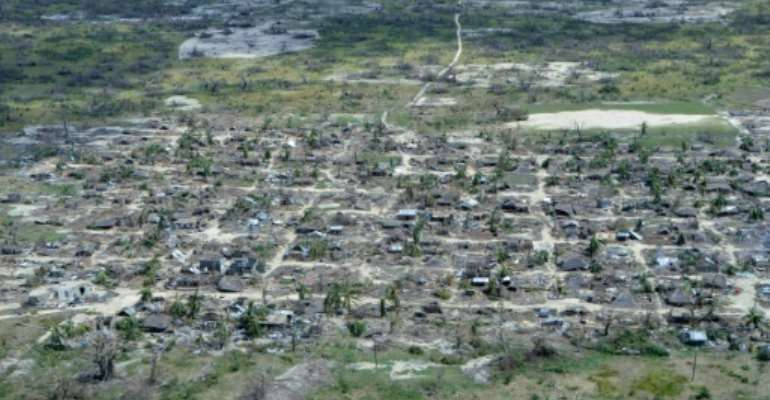 Destruction: The holiday island of Ibo off northeastern Mozambique bore the brunt of Cyclone Kenneth in April.  By Emidio Jozine (AFP)