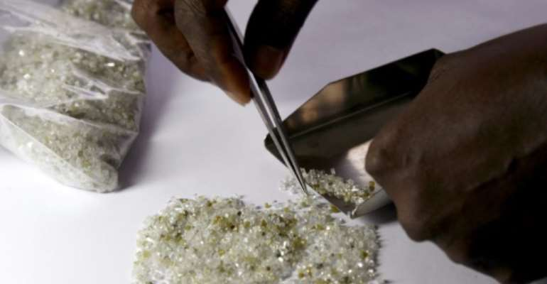 Diamonds are a major income source for cash-strapped Zimbabwe.  By ISSOUF SANOGO (AFP)