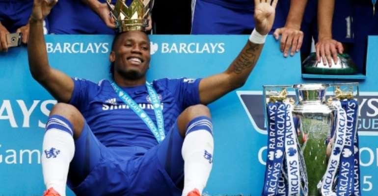 Didier Drogba won the Premier League title four times with Chelsea.  By ADRIAN DENNIS (AFP/File)