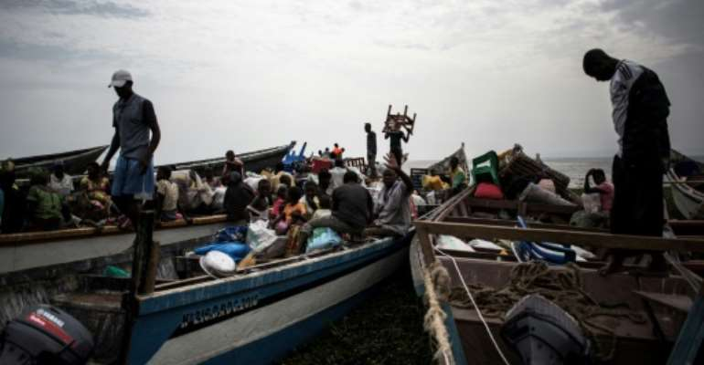 Displaced Congolese have in the past fled inter-communal violence in the Ituri region of the Democratic Republic of the Congo.  By JOHN WESSELS (AFP)