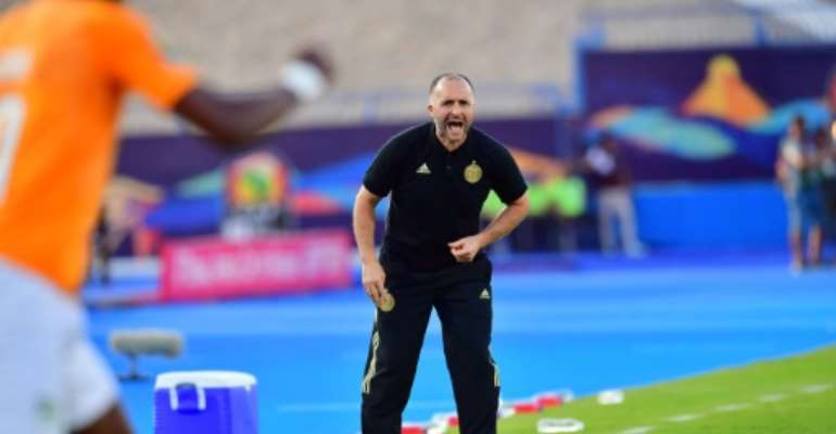 Djamel Belmadi has Algeria within sight of a second Africa Cup of Nations triumph.  By Giuseppe CACACE (AFP/File)