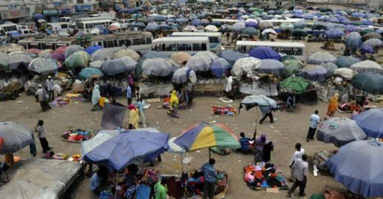 Djiboutians shop at the Balasrambu market on April 6, 2011.  By Simon Maina (AFP/File)