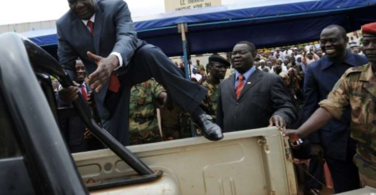 Djotodia's rebel movement, known as Seleka, plunged the Central African Republic into violence.  By SIA KAMBOU (AFP/File)