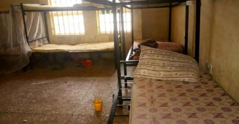 Dormitories at the Government Girls Science Secondary School in Jangebe are empty.  By Habibu ILIYASU (AFP)
