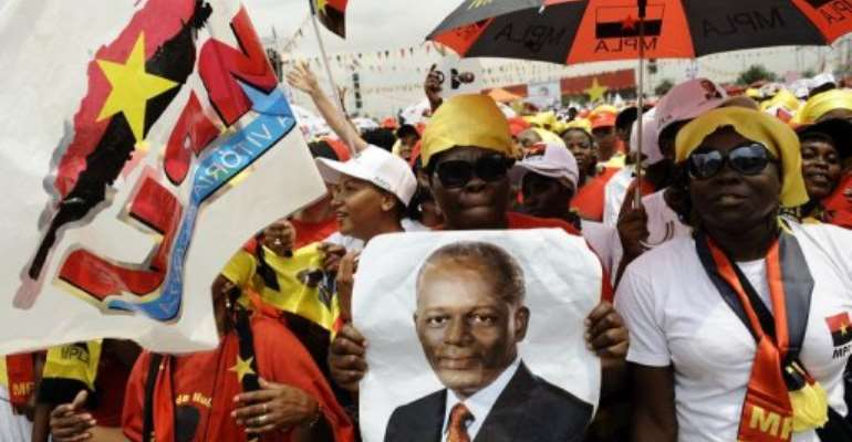 The People's Movement for the Liberation of Angola took over 80% of the vote in the last elections.  By Stephane de Sakutin (AFP)