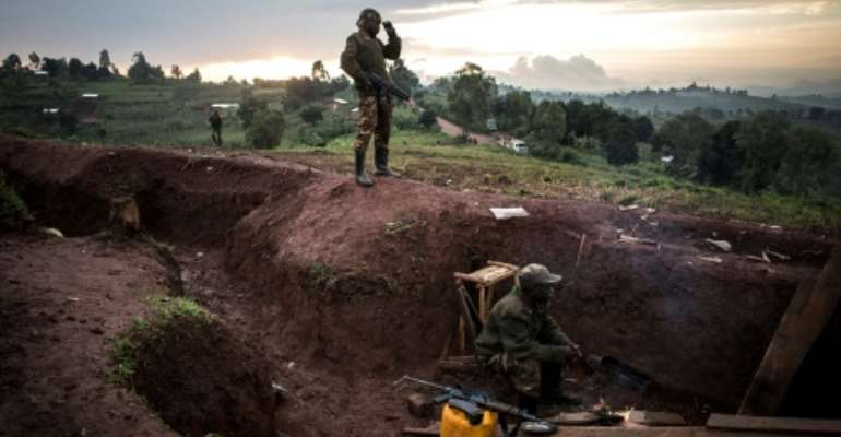DR Congo troops have been targeting armed local and foreign groups in the east of the country and have killed two Hutu militia leaders in recent weeks.  By John WESSELS (AFP/File)