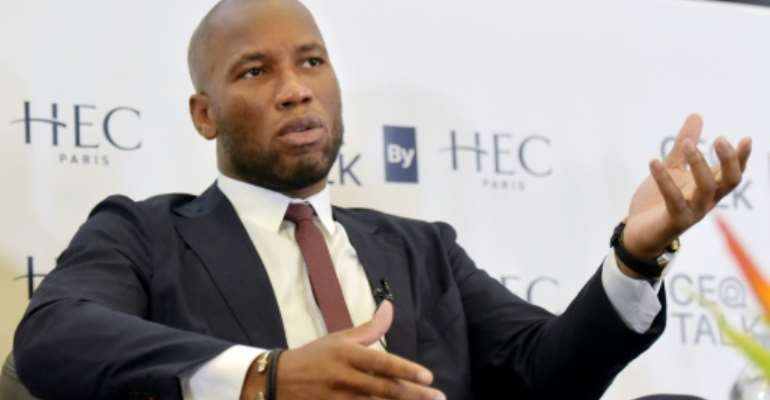Drogba, pictured here at an event in Paris in September, is a national hero in Ivory Coast.  By Sia KAMBOU (AFP/File)
