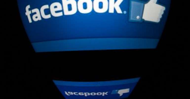 The Facebook logo is seen on a tablet screen on December 4, 2012 in Paris.  By Lionel Bonaventure (AFP/File)