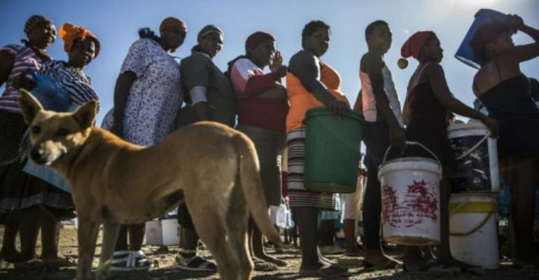 Droughts have hurt South Africa's water supplies.  By Guillem Sartorio (AFP)