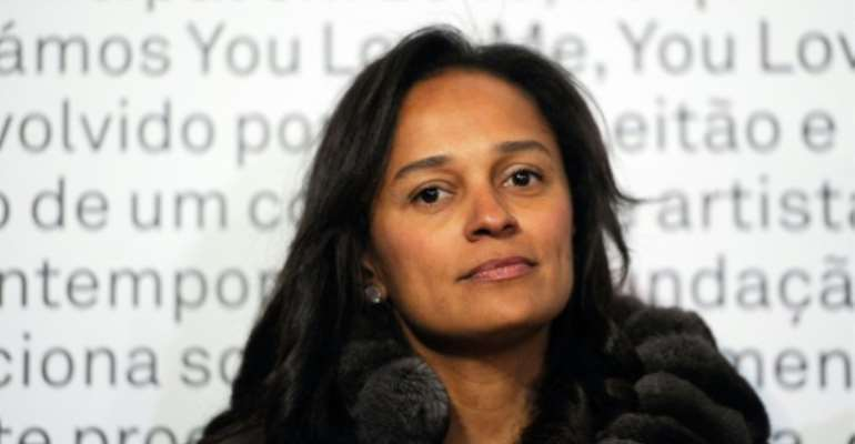Dubbed Africa's richest woman, Isabel dos Santos is accused of using her father's backing to plunder state funds.  By FERNANDO VELUDO (PUBLICO/AFP/File)