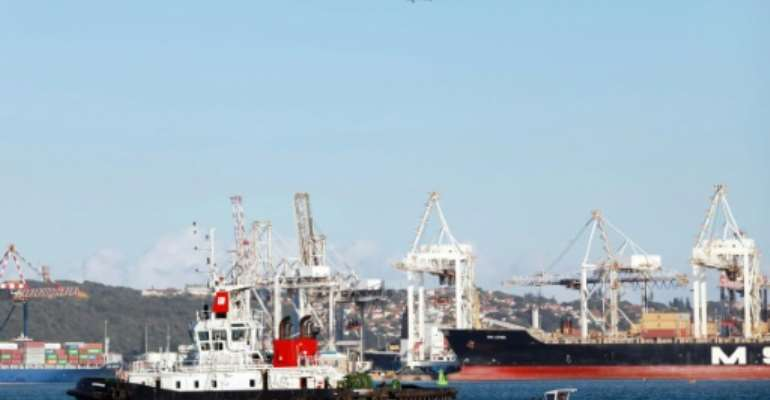 Durban is the biggest cargo port in sub-Saharan Africa.  By RAJESH JANTILAL (AFP)