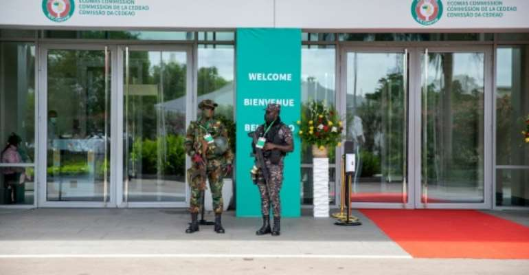 ECOWAS leaders met in Accra for a summit on the Guinea crisis.  By Nipah Dennis (AFP)
