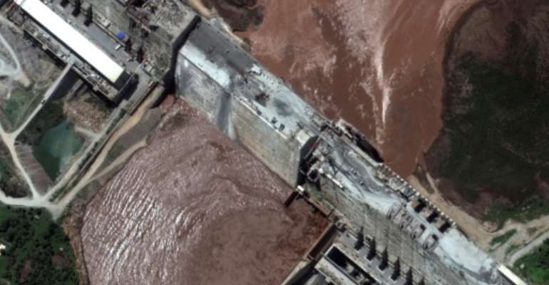 Egypt and Sudan fear the dam could starve them of water (satellite image by Maxar Technologies).  By Handout (Satellite image ©2020 Maxar Technologies/AFP)