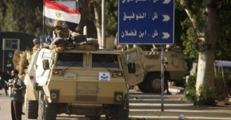 File picture shows  Egyptian troops in Cairo on September 3, 2013.  By Gianluigi Guercia (AFP/File)
