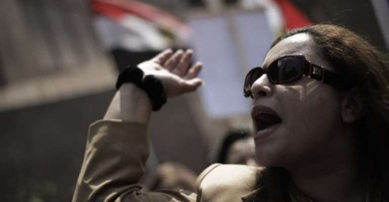 An Egyptian protester demonstrates outside the administrative court in Cairo.  By Gianluigi Guercia (AFP/File)