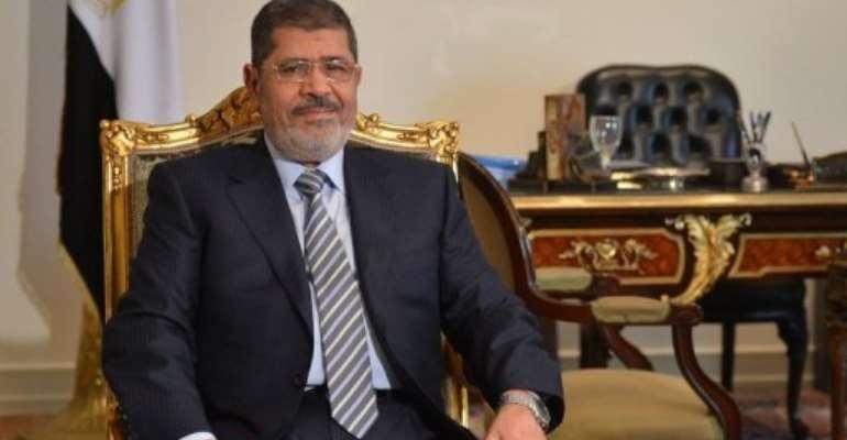Egyptian president Mohamed Morsi in Cairo on January 10, 2013.  By Khaled Desouki (AFP/File)