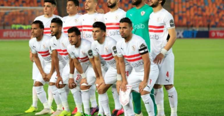 Egyptian club Zamalek are among the four contenders for the 2020 CAF Champions League title.  By Khaled DESOUKI (AFP)
