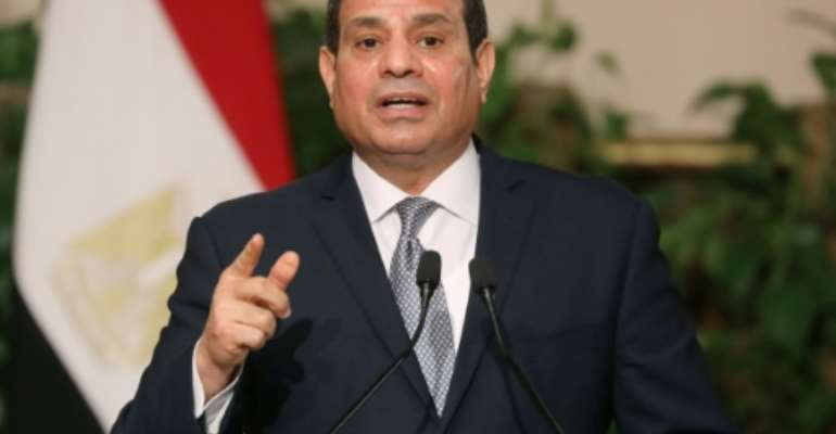 Egyptian President Abdel Fattah al-Sisi could stay in power until 2030 after a referendum supported prolonging his term and allowing him to run again.  By Ludovic MARIN (AFP/File)