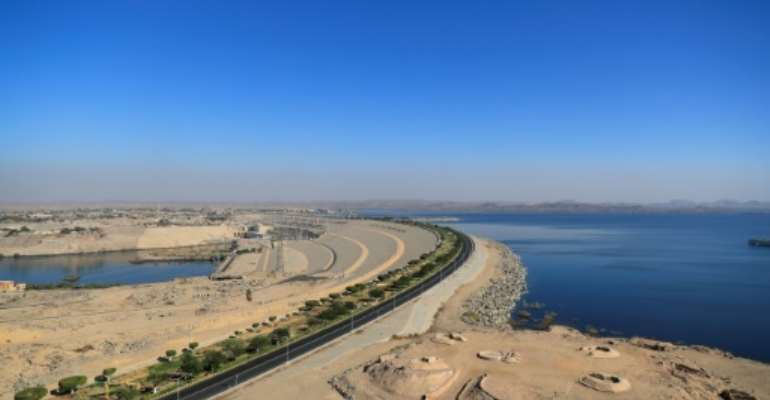 Egypt's Aswan High Dam and Lake Nasser: the building of the dam was spearheaded in the early 1950s by charismatic pan-Arabist president Gamal Abdel Nasser.  By Khaled DESOUKI (AFP)