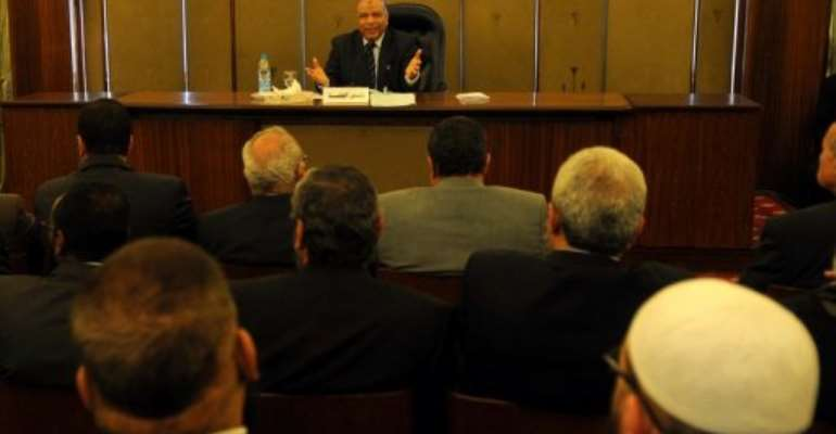 The panel elected the Islamist speaker of parliament Saad al-Katatni as its head on Wednesday.  By Mohammed Hossam (AFP)