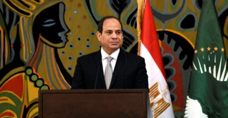 Egypt's president and current African Union chair, Abdel Fattah al-Sisi.  By SEYLLOU (AFP)