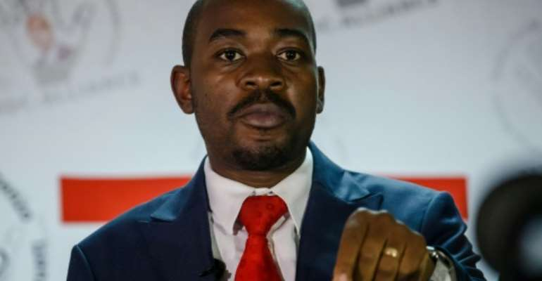 Elected: Chamisa has taken the helm of a party bruised by infighting and an electoral defeat.  By Jekesai NJIKIZANA (AFP/File)