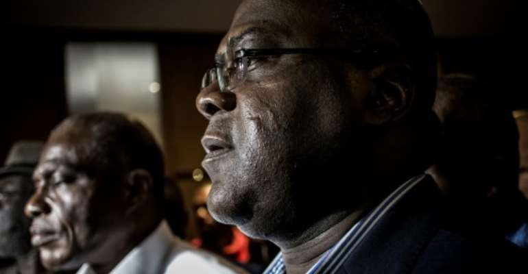 Election bitterness: Fayulu, left, and Tshisekedi.  By John WESSELS (AFP)