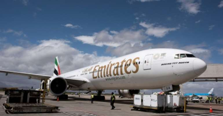 Emirates is one of the airlines that has reduced flights to South Africa.  By RODGER BOSCH (AFP)
