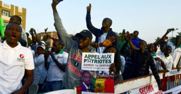 Emotions are running high in Senegal in the runup to elections on February 24.  By SEYLLOU (AFP)