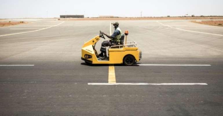 Empty: Dakar's Blaise Diagne International Airport.  By JOHN WESSELS (AFP)