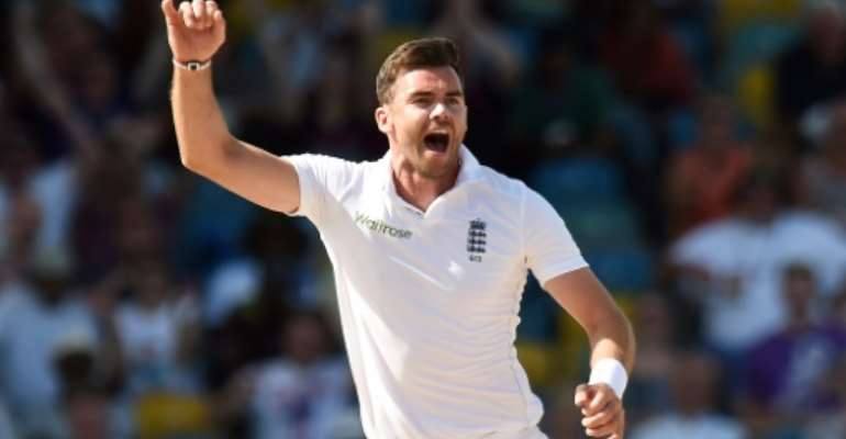 James Anderson is England's leading Test wicket-taker.  By Jewel Samad (AFP/File)