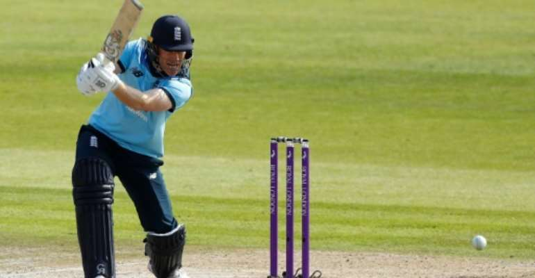 England's World Cup-winning captain Eoin Morgan could lead the side in South Africa.  By JASON CAIRNDUFF (POOL/AFP/File)
