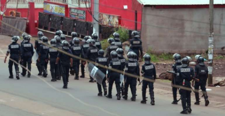 English speakers say they suffer inequality and discrimination in Cameroon, and last month a breakaway movement issued a symbolic declaration of independence which was met with a government crackdown.  By STR (AFP/File)