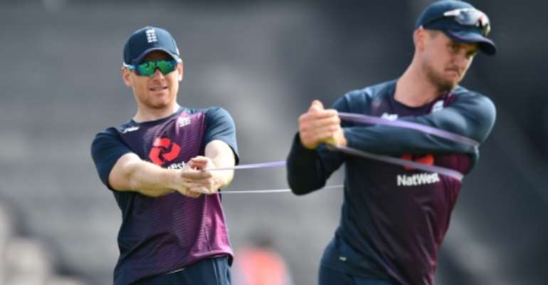 Eoin Morgan (left) is plotting World Cup glory for England.  By Glyn KIRK (AFP/File)