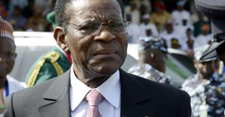 Equatorial Guinea President Teodoro Obiang Nguema Mbasogo is now Africa's longest-serving leader.  By PIUS UTOMI EKPEI (AFP/File)