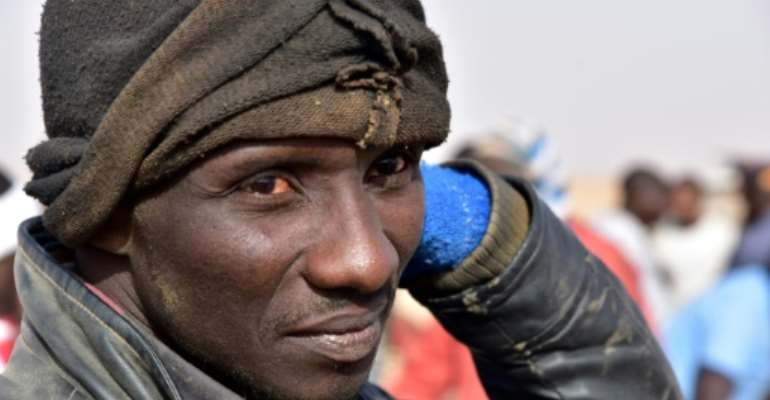 Eric Manu, a bricklayer from Ghana, stayed in Libya for several years but returned to Agadez in Niger because it was so dangerous.  By ISSOUF SANOGO (AFP)